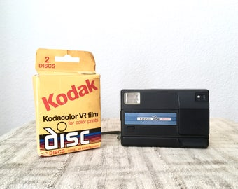 Vintage Kodak Disc 3600 Camera with 2 Unused/1 Used Units of Kodacolor VR Film