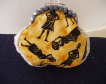 Coin Purse, Purse, Pouch, Snap Closure, Graphics, Figurative Imagery,Handcrafted