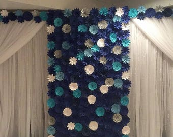 Weddings Large Paper Flowers in the Colors of Your Choice Covers 6ftx7ft Area Flowers ONLY