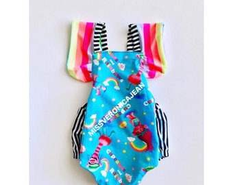 Rainbow romper with snaps. Cupcakes and rainbows, Trolls