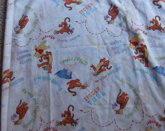 Winnie The Pooh And Friends Flat Sheet with Sayings