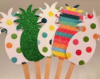 Pineapple Cupcake Toppers, Pineapple Appetizer Picks