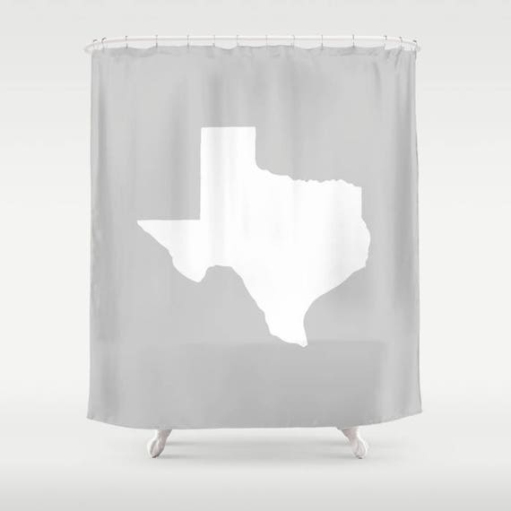 Texas Shower Curtain - Silver Shower Curtain - Modern Shower Curtain - Gray Shower Curtain - Texan Pride Shower Curtain - Texas Bath Decor