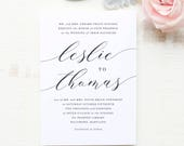 Wedding Invitation Template, Printable Wedding Invitations, DIY Invitations, Modern Calligraphy | SUITE032