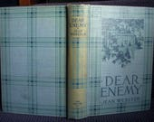 Sequel to Daddy Long Legs, Dear Enemy, Jean Webster, First Edition 1915, Blue Clothbound, Orphanage, Excellent Condition Antique Book