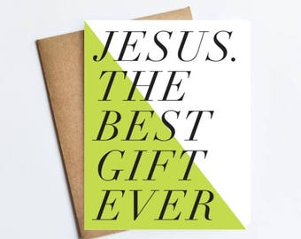 Jesus Best Gift Ever - HOLIDAY NOTECARD