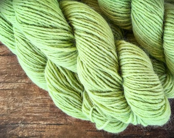 Worsted weight wool yarn- Mountain Mohair Pistachio - Greenery - knitting yarn weight - wool and yarn