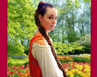 custom long hair braid extension renaissance plait Long braided gift for her festival medieval accessories costume wig hairpiece plait sca