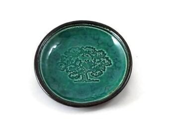Oak Tree Raku Bowl