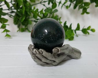 Green Jasper Gemstone Sphere Orb - Stone for Detaching Yourself