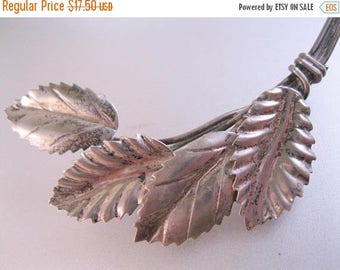 XMAS in JULY SALE Vintage Hand Made Sterling Silver Leaf Brooch Pin Vintage Brooch Vintage Pin Vintage Jewelry