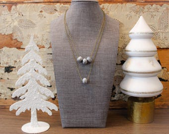 Textured Silver Bead Necklaces