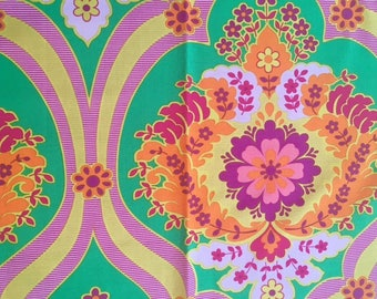 Jennifer Paganelli fabric OOP Crazy Love Priscilla Green  hard to find fat quarter f/q