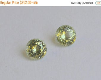 SALE Matched Pair of Round Peridot from Pakistan 1.87 Carats