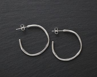 For Ellen - Single Sterling Silver post hoop