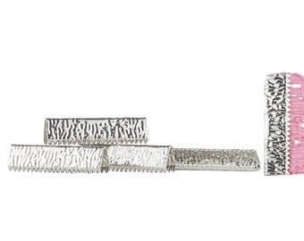 500pcs.  25mm or 1 inch - Platinum Silver No Loop Ribbon Clamp End Crimps - Artisan Series