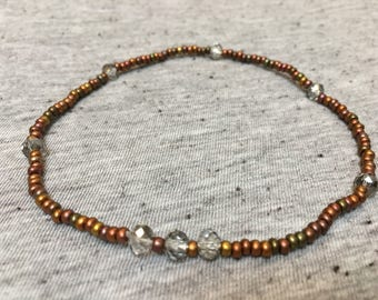 Ankle Bracelet, Stretchy Anklet, Earthy Jewelry, Boho Jewelry, Beaded Bracelet, Womens Jewelry, Unique Jewelry, Anklet, Gifts for Her