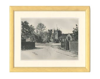St Mary the Virgin Church, Hambleden, Wycombe, Buckinghamshire, England, Vintage Print, 1946/155, WW2, War Art