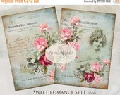 SALE - 40% OFF CARDS Sweet Romance set1 - Digital Collage Sheet - Scrapbooking - Vintage Cards - Digital Collage Images - Digital printables