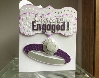 You're Engaged !  Handmade Card and Envelope