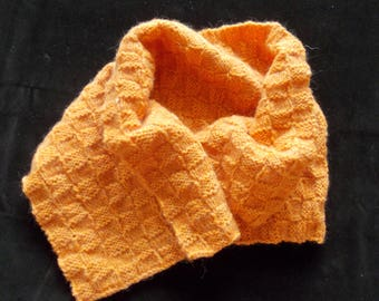 ORANGE WOOL NECK WARMER SCARF
