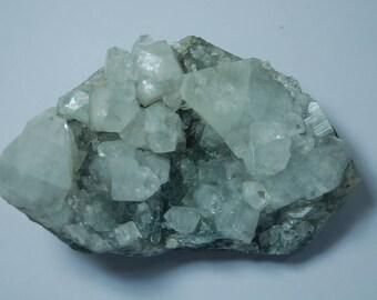 Apophyllite crystals cluster