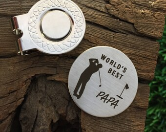 World's Best Papa Golf Ball Marker Gift for Papa Golf Marker Papa Gift Golf Ball Marker Golf Gift Idea Papa Golf Marker Grandpa Father's Day