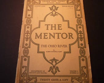 The Mentor - 1920s pamphlet on the Ohio River - commentary and photographs - for Buckeyes, Ohio lovers and River Rats - well preserved