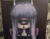 Original cyclops Fairy lowbrow art painting gothic pop surreal