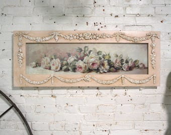 Painted Cottage Chic Shabby Romantic Rose Chrisite Repasy Canvas Print
