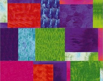 Stof - Murano - Big Blocks - Jewel Tones - Fabric by the Yard ST4505-066