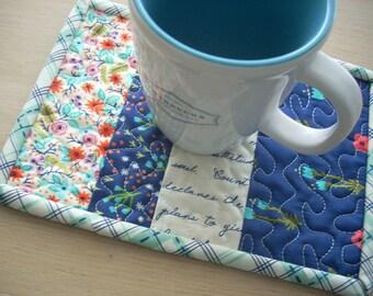 meriwether mug rug - FREE SHIPPING