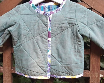 Quilted Cotton Baby Jacket/Cardigan
