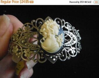 Gorgeous Grecian Lady CAMEO Bracelet --Jewelry SALE