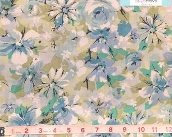 King Vintage Flat Blue Floral Sheet