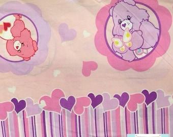 Twin Vintage Care Bears Flat Sheet