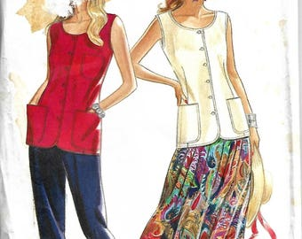 Simplicity New Look Pattern #6561, womens top, skirt and pants pattern, sizes: 6-18. Uncut