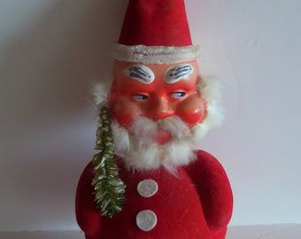 Bad Santa Bobblehead Candy Container West Germany 1950's Vintage