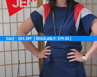 shoulder DRESS  in blue, blue mini dress, color block dress, sexy dress