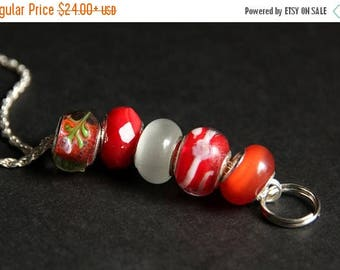 BACK to SCHOOL SALE Badge Holder. Red Lanyard. Badge Lanyard. Orange Lanyard. Id Lanyard. Nurse Lanyard. Beaded Lanyard. Badge Necklace. Lam