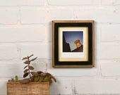 Picture Frame for Instant Camera Print in 1x1 2-Tone Style with Vintage Black Finish 4.75x5.5 inch Frame - IN STOCK - Same Day Shipping
