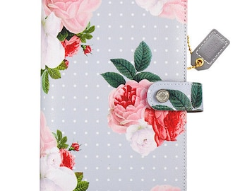 Gray Floral Webster's Pages Color Crush Personal Planner Kit Undated Calendar • Free Washi Tape with this order (CCPK001-GF)