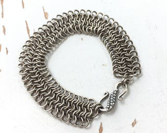 Strength Comes From Within - Chainmaille - European 4-in-1 Bracelet in Sterling Silver