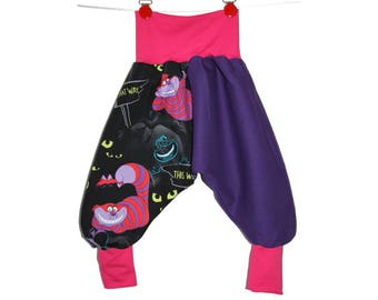 Baby harem pants size 3 to 24 months scalable cat alice in wonder