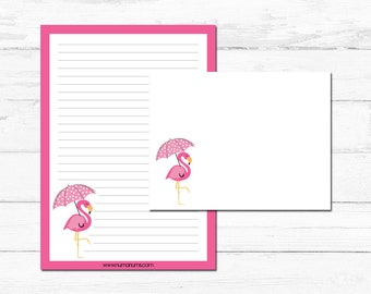 Stationery Set - flamingo splash - letter writing set