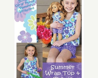 SUMMER SALE Summer Wrap and Top Girl Clothing Pattern Purple