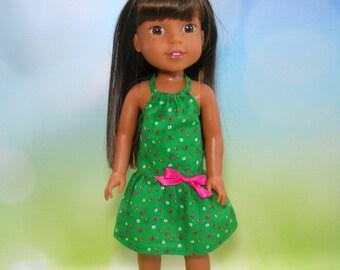 14.5 inch doll dress, Green Halter Style Dress, 07-2230