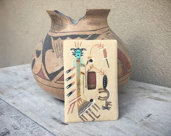 Navajo Sand Painting Light Switch Plate Cover, Single Toggle Switch Plate, Southwestern Decor