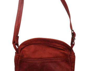 Zach Leather Co. Brown Crossbody Bag Made in Monterey CA Soft Leather Festival Ready