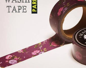 Antique masking tape - Rose and Rose -  20mmW - Washi